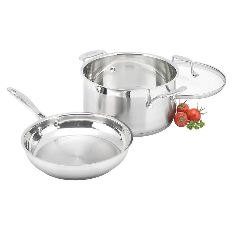 Scanpan 2 Piece Starter Set - Dutch Oven 24cm/4.8L + Fry Pan 24cm
