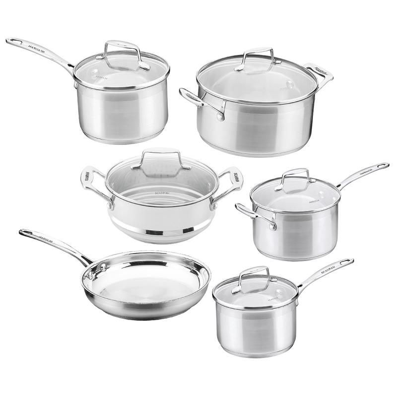 Scanpan Impact 6pcs Cookware Set Stainless Steel