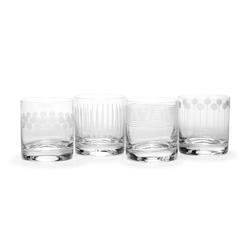 Mikasa Cheers Double Old Fashion Tumbler 377ml| Set of 4 glasses