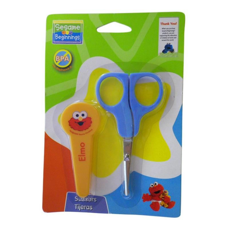 Sesame Elmo Scissors With Safe Cover - Sesame Beginnings Scissors