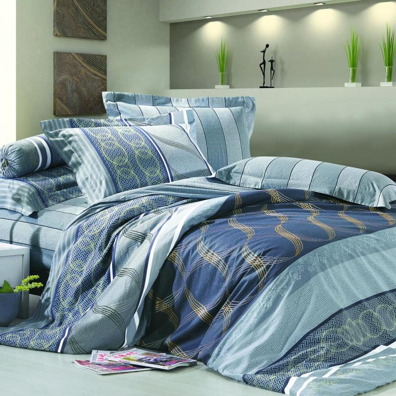Boutique Collections A006 3pcs Bed Quilt Cover Set 100% Combed Cotton