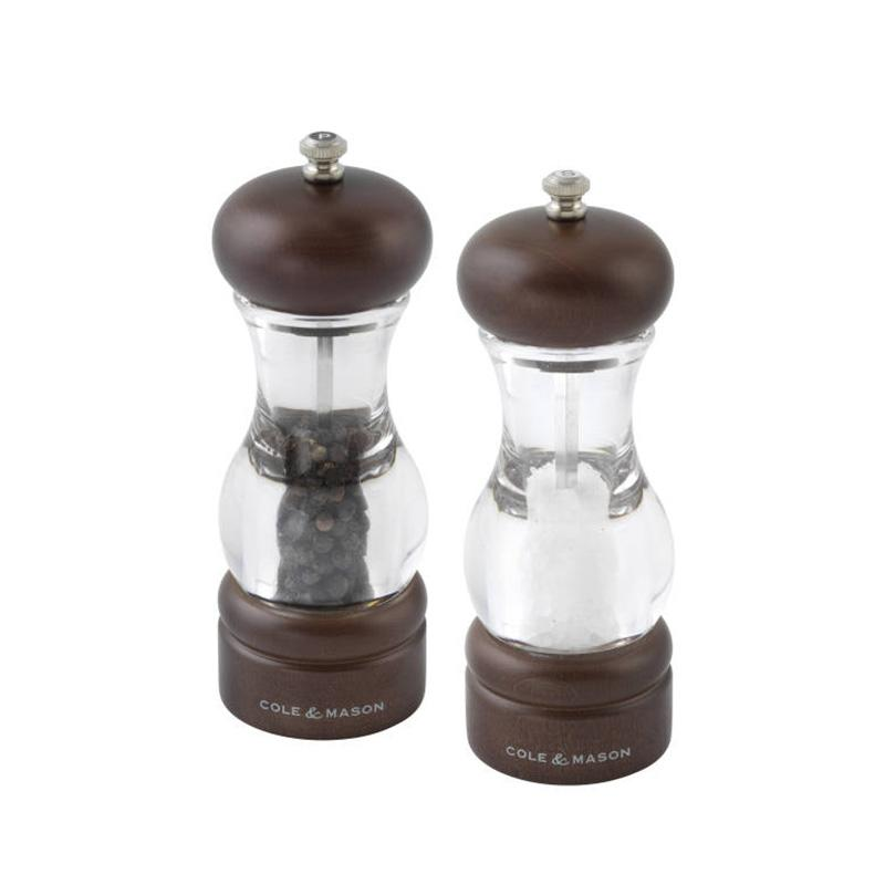 Cole & Mason 105 Forest Dark Beech Wood Salt & Pepper Mills Grinder Gift Set