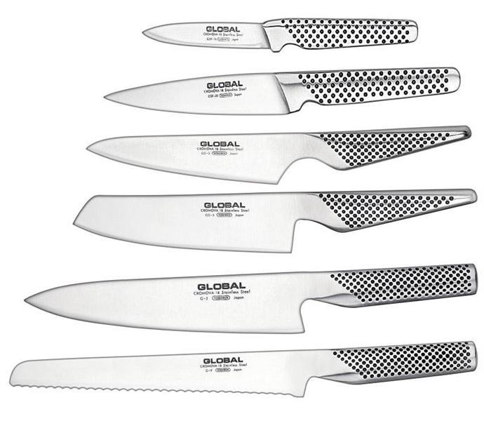 Global Kabuto Shiro Knife Block Set