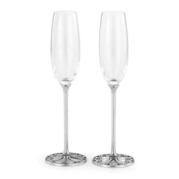 Royal Selangor Tracery Champagne Flutes (Pair)