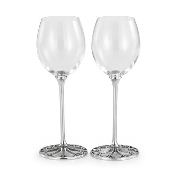 Royal Selangor Tracery White Wine Glasses (Pair)